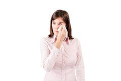Jeune pleurer bouleversé de femme d'affaires. images stock