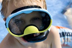 Jeune plongeur Photo libre de droits