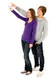 Jeune pointage de couples Images stock
