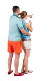 Jeune pointage de couples Photographie stock libre de droits