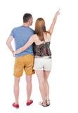 Jeune pointage de couples Photos stock