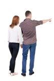 Jeune pointage de couples Photos libres de droits