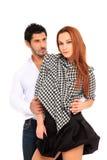 Jeune portait de mode de couples Photographie stock