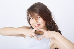 Jeune portrait asiatique de fille photo libre de droits