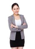 Jeune portrait de femme d'affaires photos stock