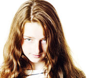 Jeune portrait de plan rapproché d'adolescente avec différentes émotions image libre de droits