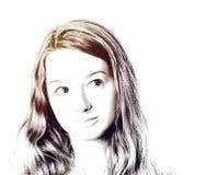 Jeune portrait de plan rapproché d'adolescente avec différentes émotions photo stock