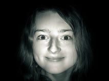 Jeune portrait de plan rapproché d'adolescente avec différentes émotions photos libres de droits