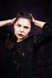 Jeune portrait femelle dramatique Image libre de droits