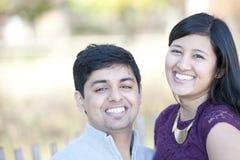 Jeune portrait indien heureux de couples Photographie stock libre de droits