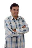 Jeune portrait occasionnel d'homme, d'isolement image stock