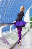 Jeune pose élégante de ballerine Photographie stock libre de droits