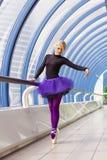 Jeune pose élégante de ballerine Images libres de droits
