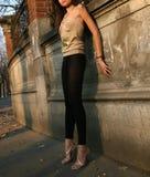 Jeune pose de modèle photo libre de droits