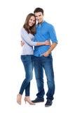 Jeune position de couples Photographie stock