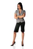 Jeune position de femme d'affaires Photographie stock libre de droits