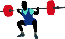 jeune powerlifter d'athlète Image libre de droits