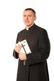 Jeune prêtre heureux Images libres de droits