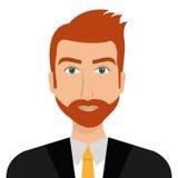 Jeune profil d'homme d'affaires au-dessus du fond blanc Photo stock