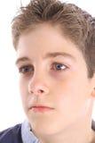 Jeune projectile de profil de garçon images stock