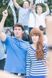Jeune révolte contre les élites corrompues Photographie stock