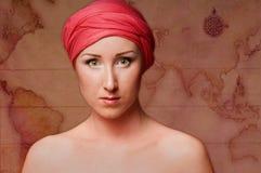 Jeune randonneur féminin Photographie stock libre de droits