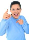 Jeune rire caucasien de fille Image stock