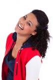 Jeune rire d'adolescente d'Afro-américain Photo stock
