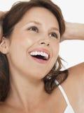 Jeune rire de femme de brune photos libres de droits