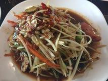 Jeune salade thaïe de papaye photo libre de droits
