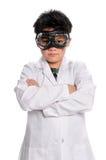 Jeune scientifique avec des lunettes Images libres de droits