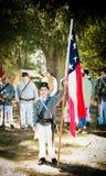 Jeune soldat confédéré Image libre de droits