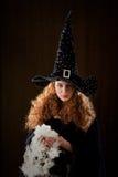 Jeune sorcière Image libre de droits