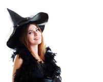 Jeune sorcière de brune photographie stock
