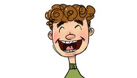 Jeune sourire illustration stock