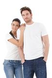 Jeune sourire affectueux de couples Images stock