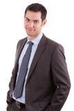 Jeune sourire caucasien d'homme d'affaires image stock