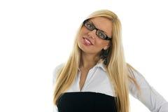 Jeune sourire confiant de femmes d'affaires Photos stock