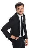 Jeune sourire d'homme d'affaires Image libre de droits