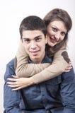 Jeune sourire de couples Photo libre de droits