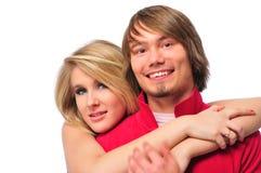 Jeune sourire de couples Photographie stock