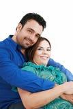 Jeune sourire de couples d'amour Image stock