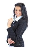 jeune sourire de femme d'affaires Photo libre de droits