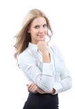 Jeune sourire de femme d'affaires photographie stock libre de droits