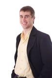 Jeune sourire heureux d'homme d'affaires Photo stock