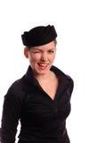 Jeune steward (hôtesse de l'air) audacieux images stock