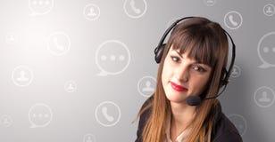 Jeune téléprospecteur femelle Photo libre de droits
