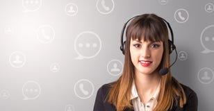 Jeune téléprospecteur femelle Photos libres de droits