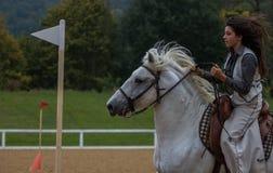 Jeune talent d'équitation Photo stock