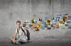 Jeune transmission Photographie stock libre de droits